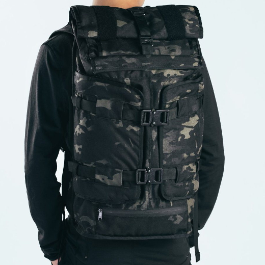 Mission Workshop The Rhake Black Camo + Cobra Buckles