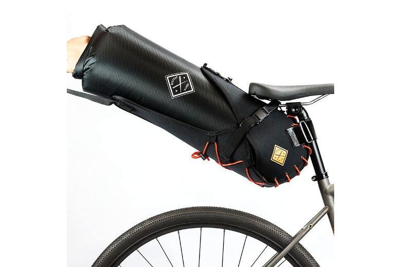 Restrap – Saddle Bar Holster with Dry Bag – black/orange – 14L