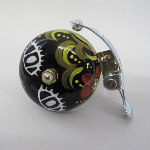 Crane Bell Co. Handpainted Suzu Bell Mika Chan black