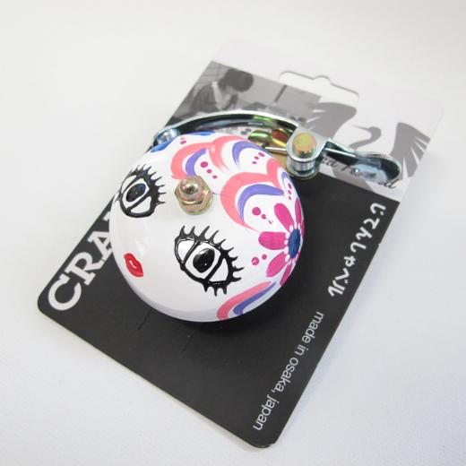 Crane Bell Co. Handpainted Suzu Mika Chan white