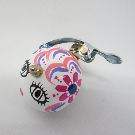 Crane Bell Co. Handpainted Suzu Mika Chan white