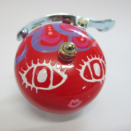 Crane Bell Co. Handpainted Suzu Mika Chan red