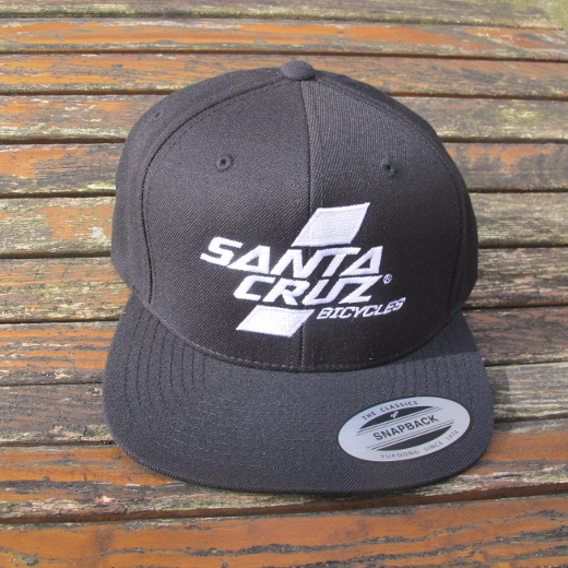Santa Cruz Parallel Snap Back Hat Black