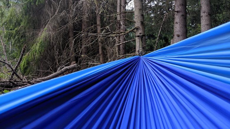 GEO – Hängematte – Double – dunkelblau/hellblau