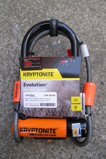 Kryptonite Bügelschloss Mini-7 mit Kryptoflex 120cm
