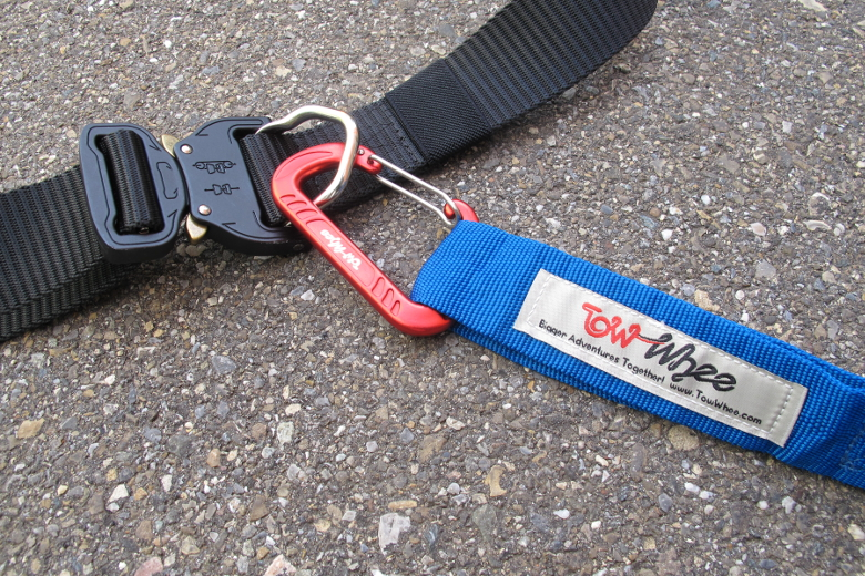 TowWhee Waist Belt with Small Carabiner