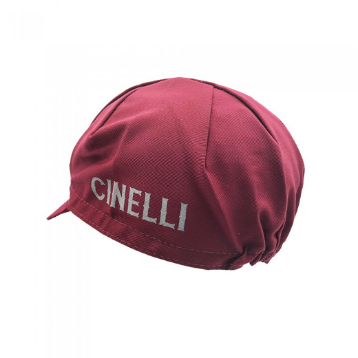 Cinelli Crest burgundy Cycling Cap