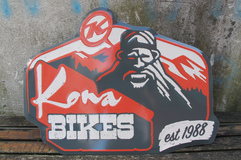 KONA Squatch Metal Sign