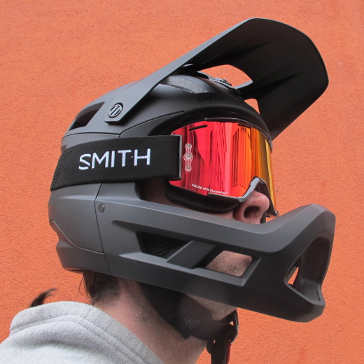 SMITH Squad MTB Black red mirror