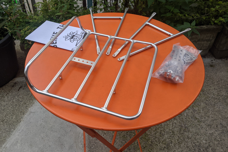 Pelago – Commuter Front Rack Large – Aluminium polish